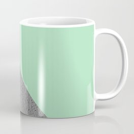 Cement vs mint diagonal Coffee Mug