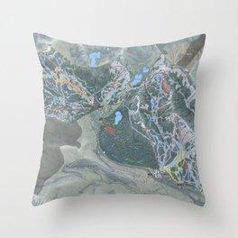 Big Cottonwood Canyon Trail Map Throw Pillow