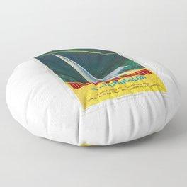Destination Moon Floor Pillow