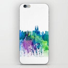 Skyline BARCELONA Colorful Silhouette iPhone Skin