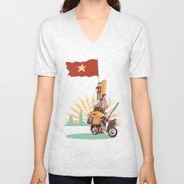 Vietnamese Transport Unisex V-Neck