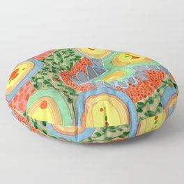 Splashes In Bubbles Floor Pillow