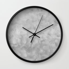 Soft Gray Clouds Texture Wall Clock