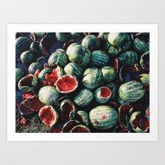 Watermelons Art Print