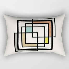 Mid Century Modern Squares Rectangular Pillow