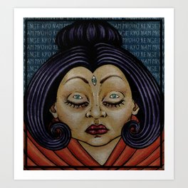 SHE, Buddha Art Print