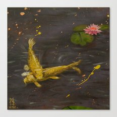 Peaceful Koi Canvas Print