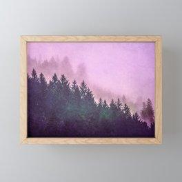 Misty Mountain Pass Framed Mini Art Print