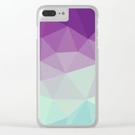 violet and blue polygon Clear iPhone Case