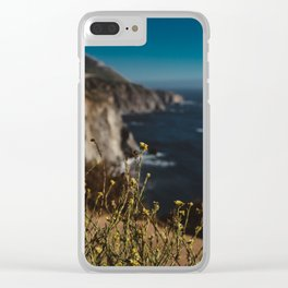 Big Sur Wild Flowers II Clear iPhone Case