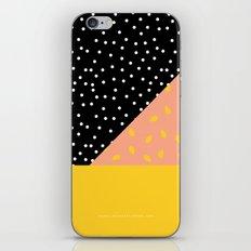 Peach Fuzz Black Polka Dot /// www.pencilmeinstationery.com iPhone & iPod Skin