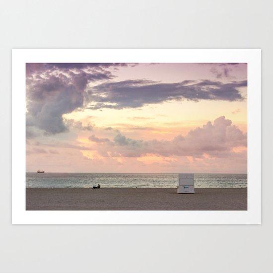 Sunrise in South Beach Art Print