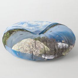 Mountain Lake Floor Pillow