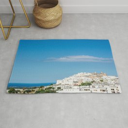 Panoramic view of the medieval white village of Ostuni Rug