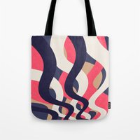 coral Tote Bags featuring Coral by Raluca Ag