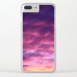 Pink & Purple Sunset Clear iPhone Case