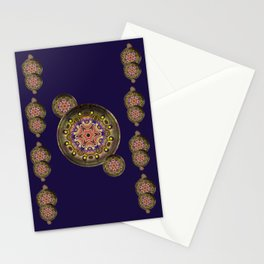 K107 Abstract Medallion Stationery Cards