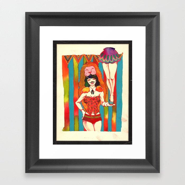 Strong woman Framed Art Print