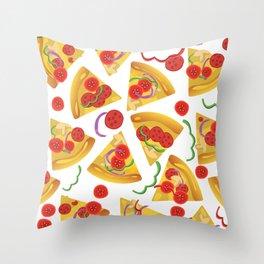 Pizza Slices Throw Pillow