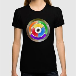 The theory of colouring - Diagram of colour by J. Bacon, 1866, Remake (no text) T-shirt
