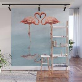 Pink Flamingos Wall Mural