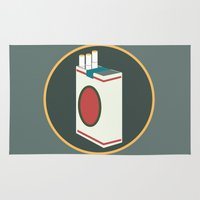 cigarette Area & Throw Rugs featuring cigarette by Simon Khoo's Illustration