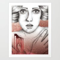 sleeping beauty Art Prints featuring Sleeping Beauty by Kayleigh Day