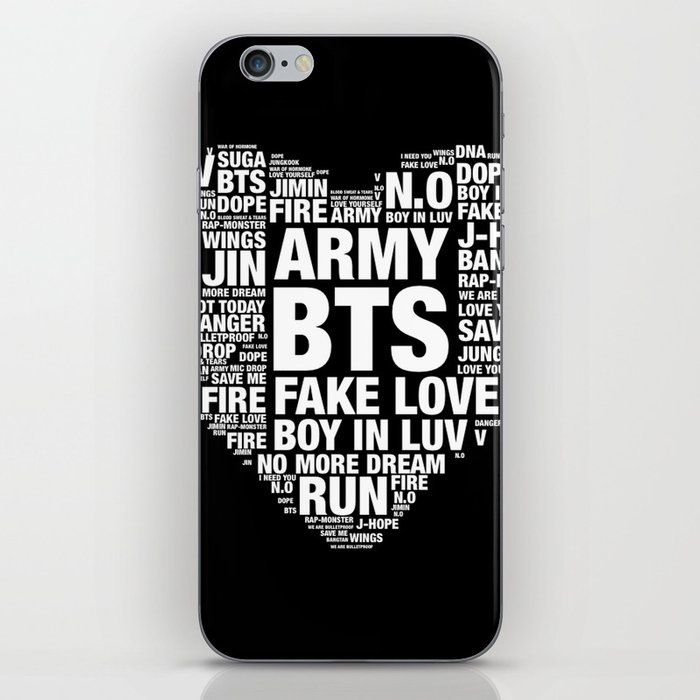 BTS ARMY Fan Art : Typography iPhone Skin