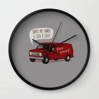 van Wall Clocks featuring Creeper Van by Phil Jones