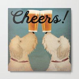 Doodle Goldendoodle Labradoodle Schnoodle Whoodle Beer Dog Metal Print