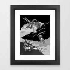 Goat Mountain / The Birth of Light Framed Art Print