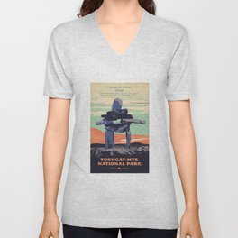 Torngat Mountains National Park Poster Unisex V-Neck