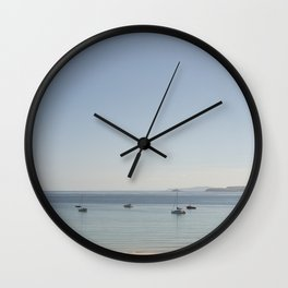 tranquil Morning over St. Ives bay, Cornwall Wall Clock