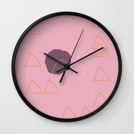 Mr. Gulliver and his Orange Tent Wall Clock