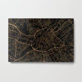 Manchester map, UK Metal Print