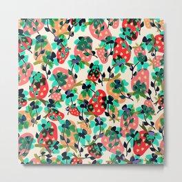 Floral Berries. Metal Print