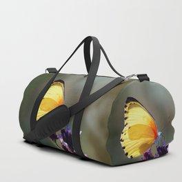Yellow butterfly Duffle Bag
