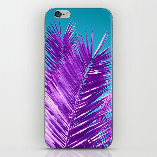 purple palm tree iPhone & iPod Skin