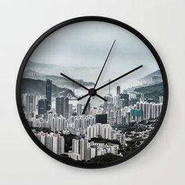 Hong Kong urban and country Wall Clock
