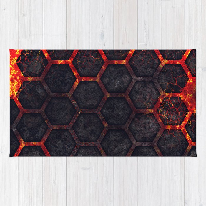 Lava Hexagons Rug