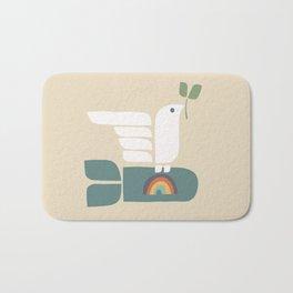 Peace dove and rainbow bomb Bath Mat