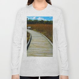 Point Pelee National Park Boardwalk in Leamington ON Canada Long Sleeve T-shirt