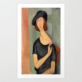 "Amedeo Modigliani ""Jeanne Hébuterne (Au chapeau)"" Art Print"