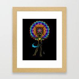 Orbiting (Color) Framed Art Print