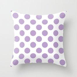 Lavender Large Polka Dots Pattern Throw Pillow