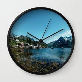 norwegian fjord Wall Clock