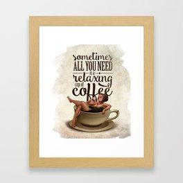 Coffee Lady Framed Art Print