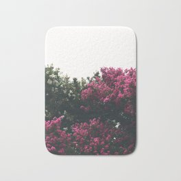 Pink and white flowers Bath Mat