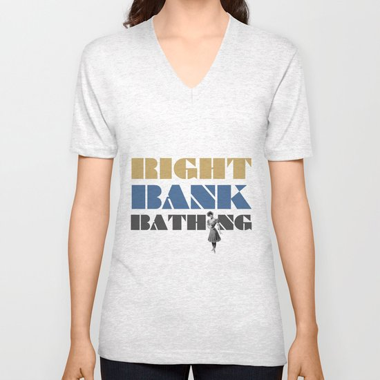 Right bank bathing Unisex V-Neck
