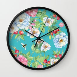 Vintage Floral Pattern No. 3 Wall Clock